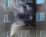 в одном из жилых домов по улице Интернациональная загорелся балкон