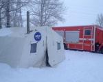 В связи с прогнозируемым понижением температуры воздуха на территории Республики Башкортостан на участке федеральной автодороги Р-240 развернут мобильный пункт обогрева