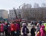 Показательные выступления на площадях города  посвященные Дню пожарной охраны России