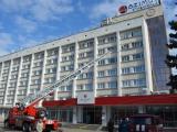 Пожарно-тактические учения на здание гостиничного комплекса «Азимут»