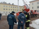 Пожарно-тактические учения в Республиканской психиатрической больнице № 1 в д. Базилевке