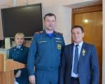 начальник 22 отряда Мансуров Ришат выступил на совещании у главы Администрации муниципального района Нуримановского района