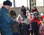 Пожарных ПЧ-28 посетили воспитанники детского сада
