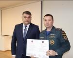 В Администрации Калининского района  ПЧ-7 вручили благодарственное  письмо