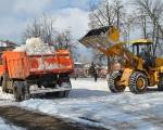 В подразделениях 22 отряда продолжается уборка и вывоз снега с территорий