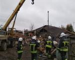 Пожарно-спасательные подразделения ликвидируют последствия хлопка бытового газа Кармаскалинском районе