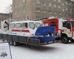 На фасаде Главного управления МЧС России по Республике Башкортостан проведен показ техники уфимского пожарно-спасательного гарнизона
